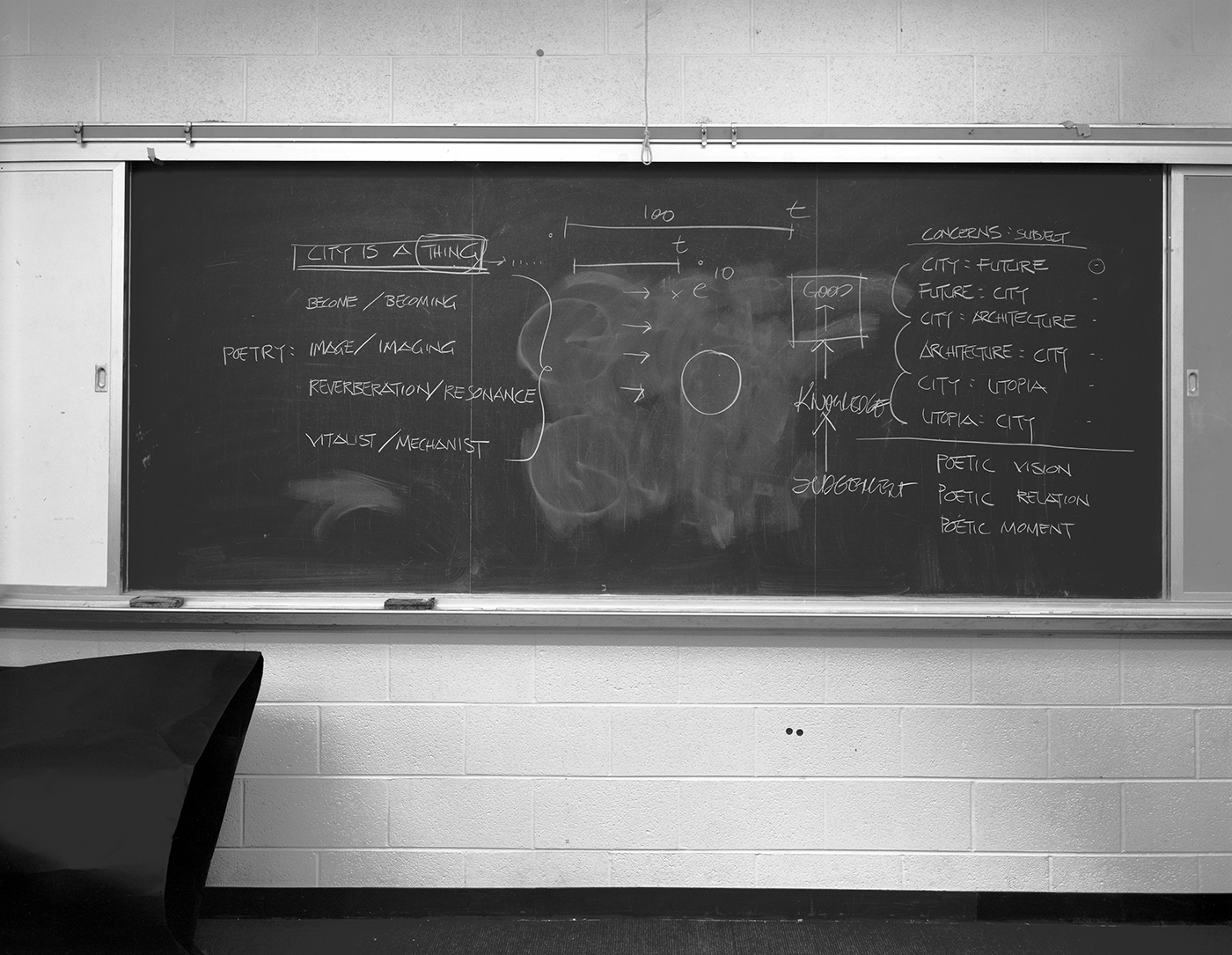 Lynne Cohen / Estate  - Untitled (Blackboard for architects), 1980-1989