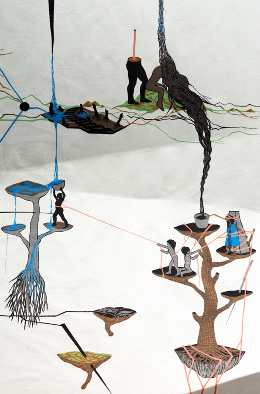 Otobong Nkanga - Fragilologists Predicament (detail), 2011